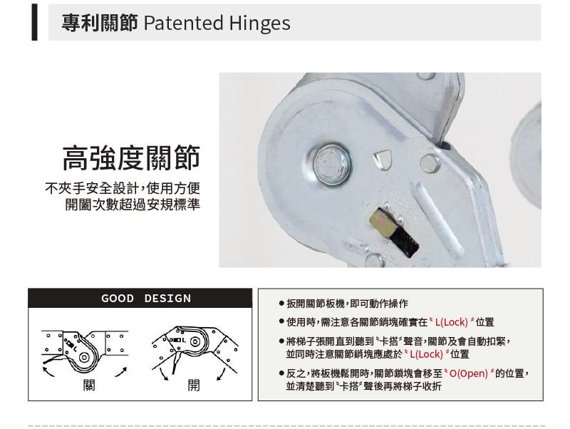 專利關節-高強度關節,不夾手,自動鎖扣