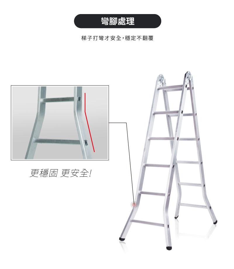 梯子打彎才安全,穩固不翻覆。