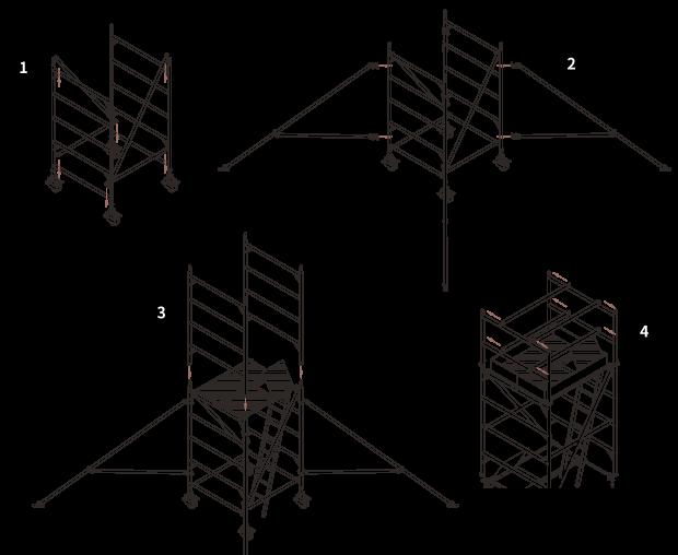 梯老闆框式鋁鷹架-組裝說明